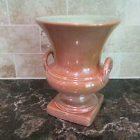 "Vintage Red Wing USA #871 Luster Pink Trophy Vase 7.5"" Tall 1940 Art Pottery"