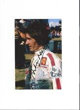 Arturo Merzario Ferrari F1 Ritratto 1972 firmato fotografia 1