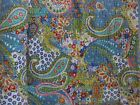 Indian Paisley Reversible Kantha Quilt Twin Boho Bedspread Cotton Throw Blanket
