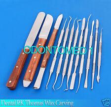 DENTAL LABORATORY TECHNICIAN KIT P.K THOMAS WAX CARVING PLASTER KNIFE SPATULA