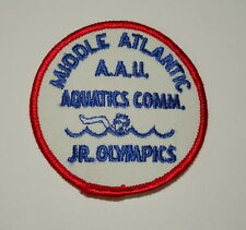 VTG Middle Atlantic AAU Amatuer Swimming Jr. Olympics 1970s Cloth Patch