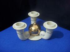Vintage GH & Co Germany 3 Arm Porcelain Candelabra Cornucopia Style