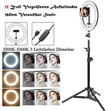 12 Zoll Ringlicht mit Stativ 3 Lichtfarben Dimmbar LED Ringleuchte TikTok Licht