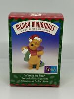 Hallmark Winnie the Pooh Christmas at Poohs House Merry Miniature Xmas Gift