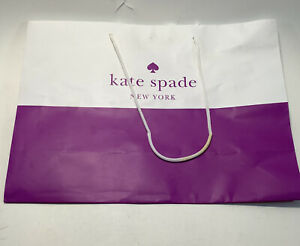 Kate Spade Shopping Paper Gift Bags Purple & White 16 X 12 X 6 Inches
