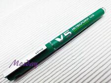1 Pilot Hi-Tecpoint V5 Cartridge System Needle Tip 0.5mm Roller Ball Pen, GREEN