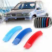 3D M Color Grille Trim Strips Grill Cover Stickers Pour BMW X5 E53 LCI 2004-2007