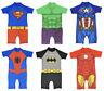 Boys Sun Safe Swim Suits Super Hero One Piece Swim Wear Sets Dress Up Style
