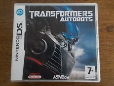 Nintendo DS Transformers Autobots Video Game Activision 7+ Instruction Manuals