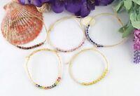 15PCS Mixed colours braided raffia wish bracelets #21621