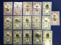 16 Easter Antique Postcards Winsch Publ 1900s. Silk Crosses. Collector Items