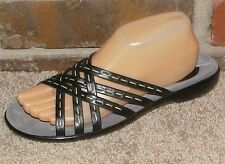 CLARKS WOMENS BLACK LEATHER  SANDAL SIZE 8.5