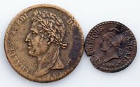 1798-1825 France Centime & 5 Coin Lot (Very Fine, VF Condition)