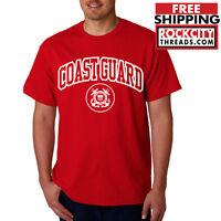 COAST GUARD ARCHED T-SHIRT US Military United States USCG Shirt Army Tshirt USA