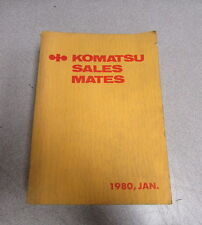 Komatsu Sales Mates Book Manual 1980
