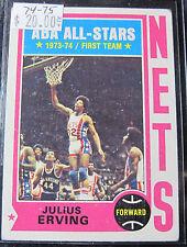 1974-1975 Julius Erving Basketball Card Nets (#821H)