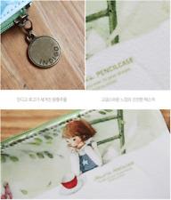 Alice in Wonderland Green Pencil Case / Pouch Korean Stationery Kim Min Ji Boxed