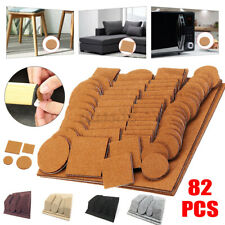 82 Pcs Self-adhesive Furniture Pads Chair Leg Floor Protectors Felt Hardwood