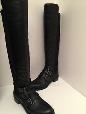 Vince Camuto Jayce Black Leather Tall Boots Size 6M *NEW