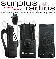 New OEM Motorola Leather Holster RLN5383 CP200 PR400 CP150 CP200D EP450 CP185