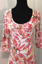 Cabi Women's Floral Long Sleeve Top Size M