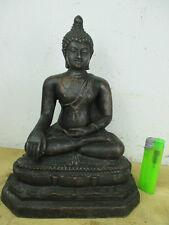 Betagter Buddha, vieja bronce de Siam Alt-Tailandia desde 1970 en colección 23cm