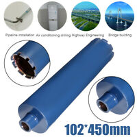 102x450MM High Speed Steel Diamond Core Drill Bit for Masonry Drilling Blue M22