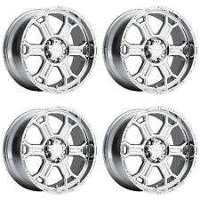 "Set 4 17"" Vision 372 Raptor Chrome Chevy GMC 8 Lug Truck Wheels 17x8 8x6.5 25mm"