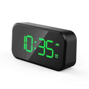 Modern Small Digital LED Desk Alarm Clock USB Charger Alarm Clock for Bedroom NE