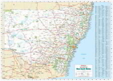 NEW Laminated Wall Maps - NSW New South Wales Reference Map Large