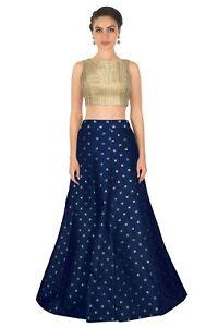 Indien Soie Imprimé Mariage Vêtement Lehenga Choli Chunri Designer Lazzari