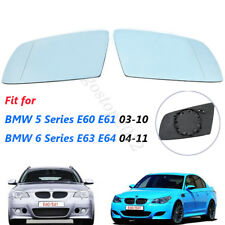 Left & Right Side Blue Heated Wing Mirror Glass For BMW 5 Series E60 E61 03-10