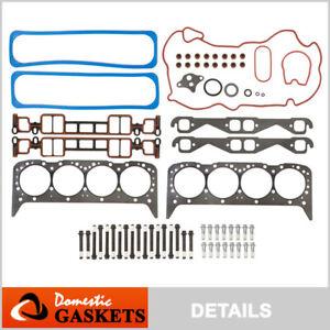 Fits 96-02 Chevrolet GMC Cadillac 5.7L V8 Vortec OHV Head Gasket Set Bolts VIN R