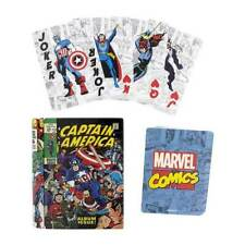 OFFICIAL MARVEL COMICS PLAYING CARDS IN COMIC BOOK METAL CASE