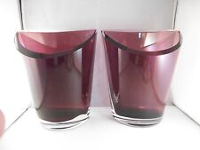 Gorgeous Pair of Amethyst Glass Vase Bookends Bookend