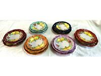 """Servizio di piatti in ceramiche Vietresi  """"fiori e limoni"""" per 6"""