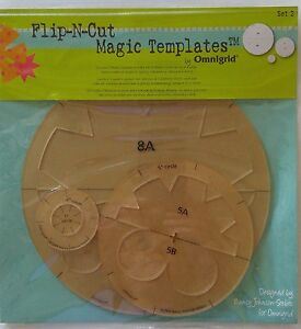 Omnigrid Quilting FLIP-N-CUT MAGIC TEMPLATES #2 Cutting Nancy Johnson-Srebro NIP