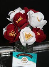 Handmade Edible Sugar CHARM PEONY Flower Cake Topper Decoration