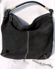 Russell & Bromley black suede large tote bag Brand New