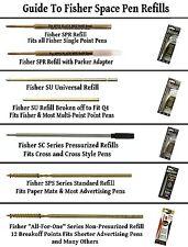 2 Fisher SC Series Cross Style Blue Ink Medium Point Ink Cartridges / #SC1
