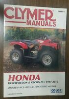 New Clymer Service Shop Manual Honda TRX250 1997-2011 Recon & Recon ES M446-4