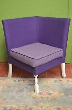 Vintage Retro Mid Century Corner Cocktail Chair Purple Mauve White Legs