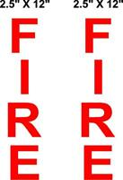 Fire Alarm Box Reflective Decals Stickers Lot of 2 Super Engineer Grade SEG Tape