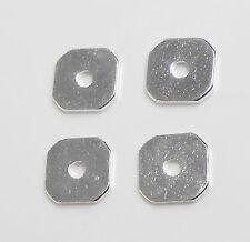 8 Scheiben rund flach 8mm silberfarbig gebürstet neu 6220