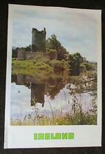 "Original IRELAND Tourist Travel Vintage IRISH CASTLE Poster 1960's 25"" x 37"""