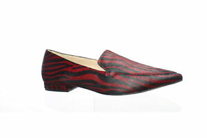 27 EDIT Womens Hannah Burgundy Loafers Size 8 (Wide) (1530151)