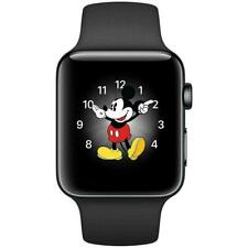 Reloj de Apple serie 3 - 38mm-Gris Caso-Negro Deporte Banda (GPS)