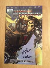 Signed x5 Sdcc Wondercon 2013 Idw Transformers Bumblebee Spotlight Variant Pics