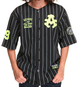 AKADEMIKS A13SK01 NO HITTER 100% Polyester Jersey W/Applique Black and Grey