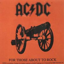 "AC/DC AUFKLEBER / STICKER # 22 ""FOR THOSE ABOUT TO ROCK"" - PVC - WETTERFEST"